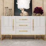 Tủ trang trí mạ vàng 4