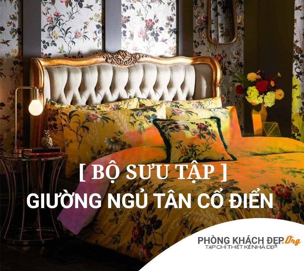 mẫu giường cổ điển đẹp