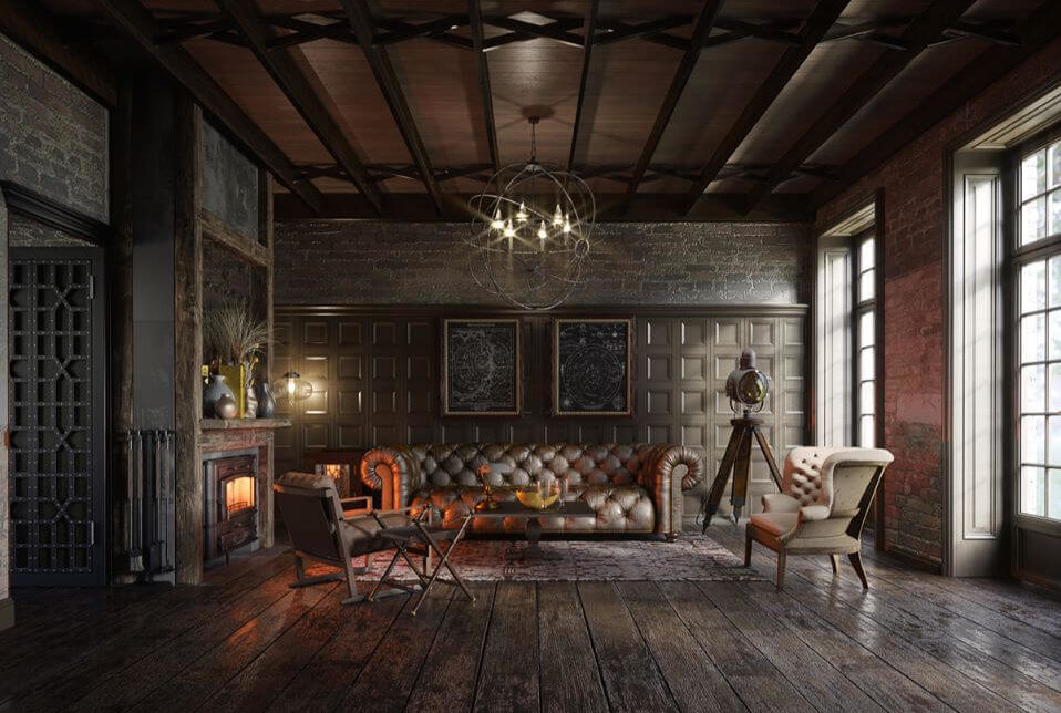 Các yếu tố của tân cổ điển trong thiết kế phòng khách 1