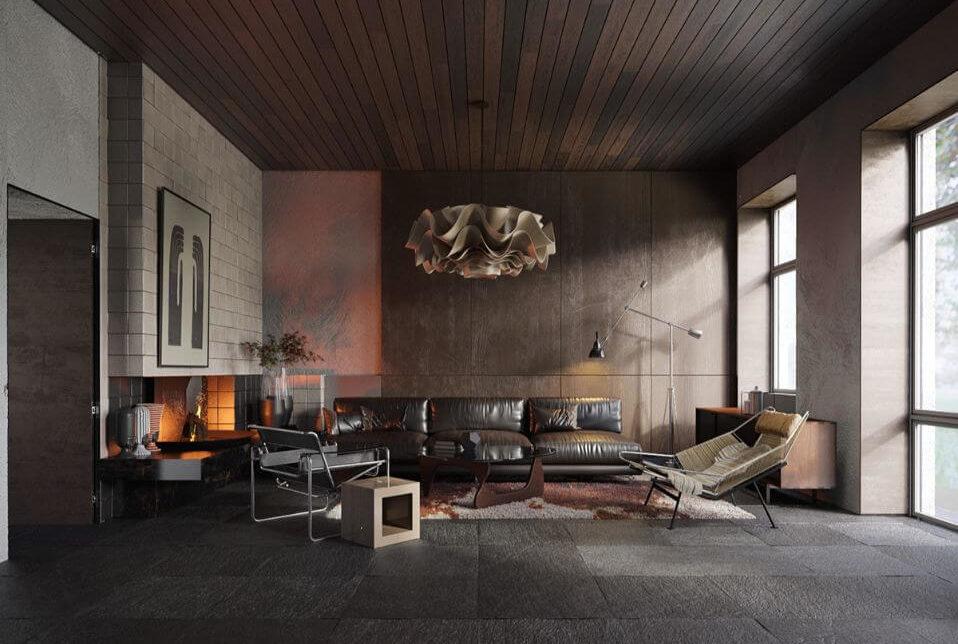 Các yếu tố của tân cổ điển trong thiết kế phòng khách 2