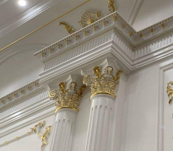 Mạ vàng phào chỉ thạch cao trần nhà