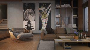 Nội thất phòng khách đẹp hiện đại 28
