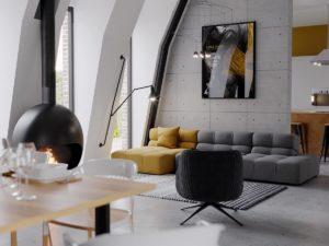Nội thất phòng khách đẹp hiện đại 32