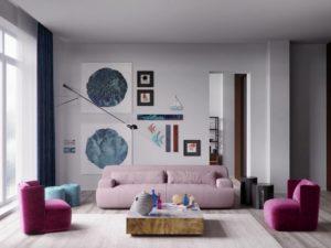 Nội thất phòng khách đẹp hiện đại 40