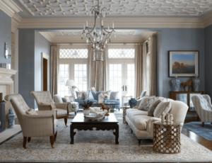 Phòng khách sang trọng cổ điển 12