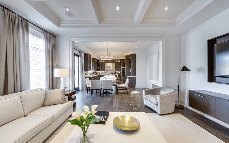 Sắp xếp Ánh sáng phòng khách tạo nên sự ấm cúng đạc trong phòng khách để trò chuyện, ngủ trưa và giải trí