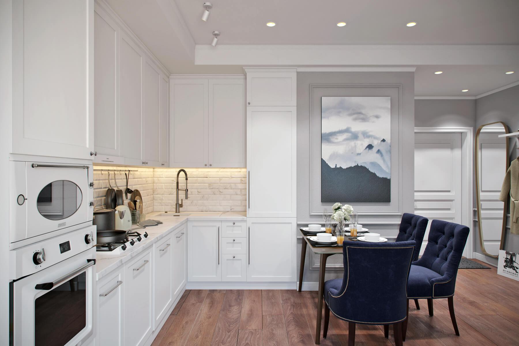 Thiết kế nhà bếp tân cổ điển 5