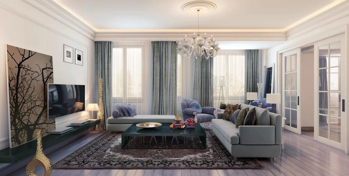 Thiết kế phòng khách tân cổ điển 1