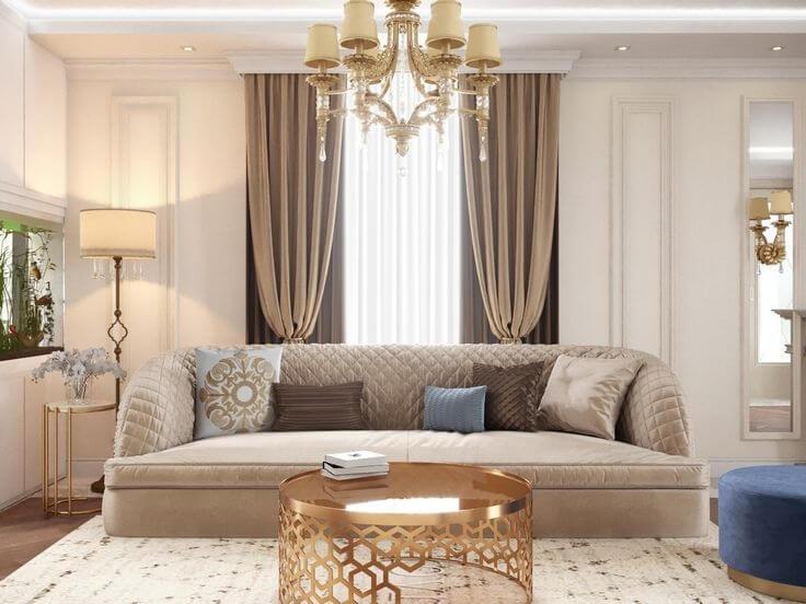 Thiết kế phòng khách tân cổ điển 2