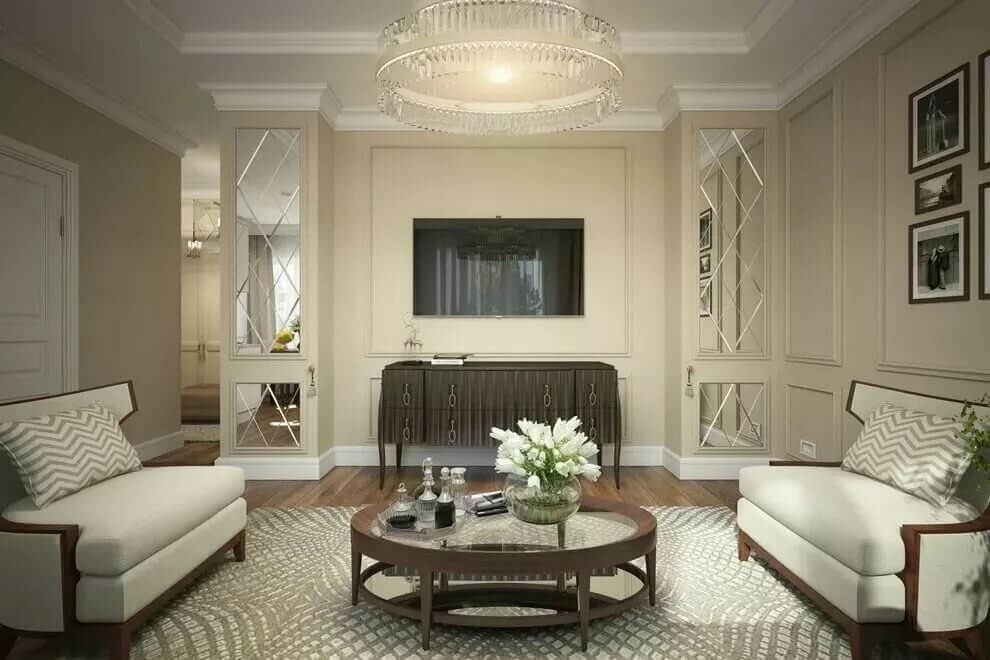 Thiết kế phòng khách tân cổ điển 3