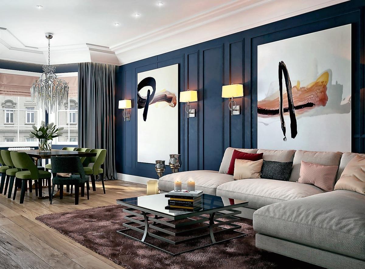Thiết kế phòng khách tân cổ điển 4