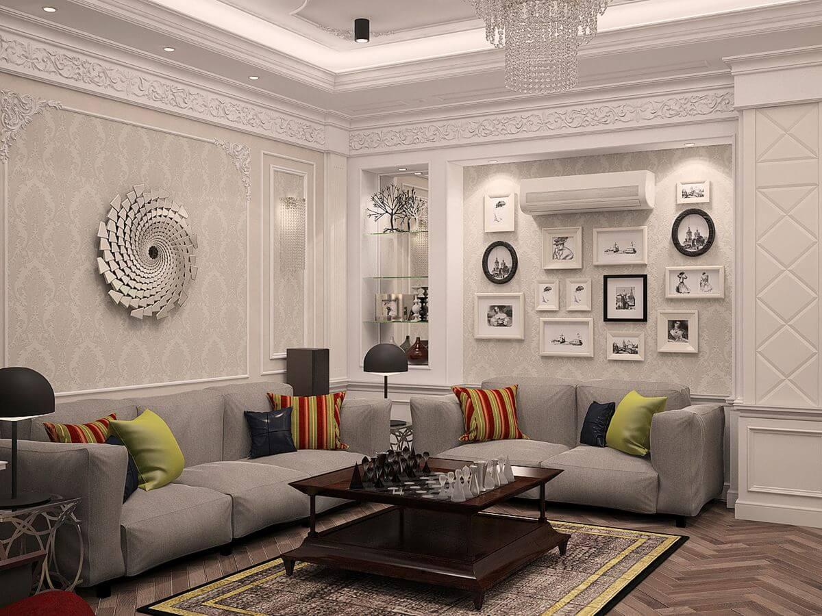 Thiết kế phòng khách tân cổ điển 5