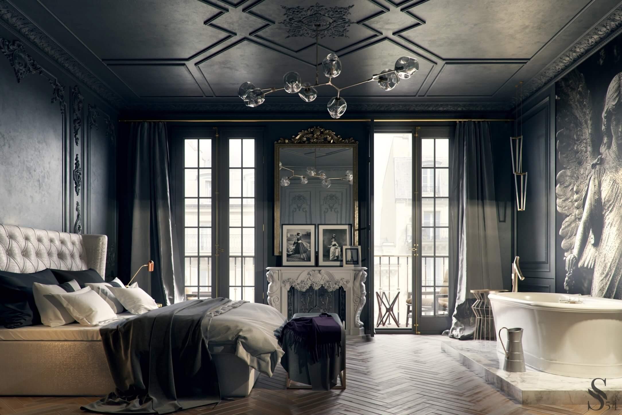 Thiết kế phòng ngủ tân cổ điển 9