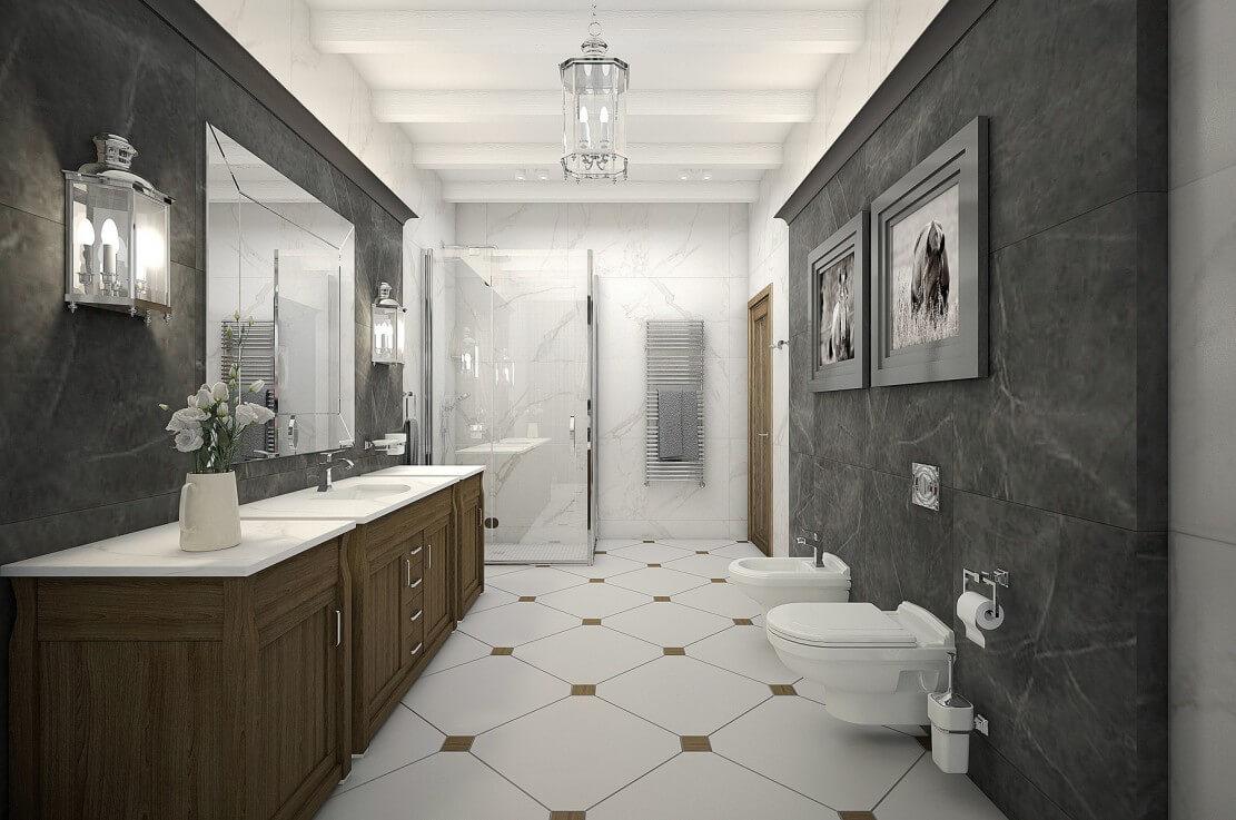 Thiết kế phòng tắm tân cổ điển 1