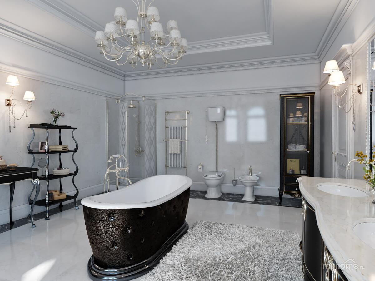 Thiết kế phòng tắm tân cổ điển 2