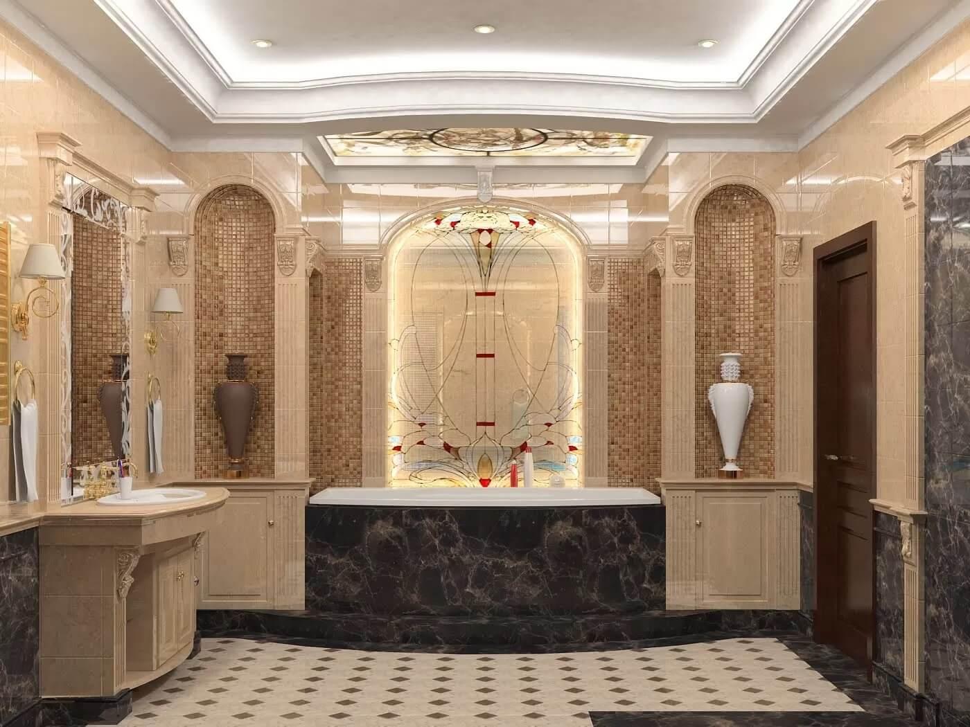 Thiết kế phòng tắm tân cổ điển 9