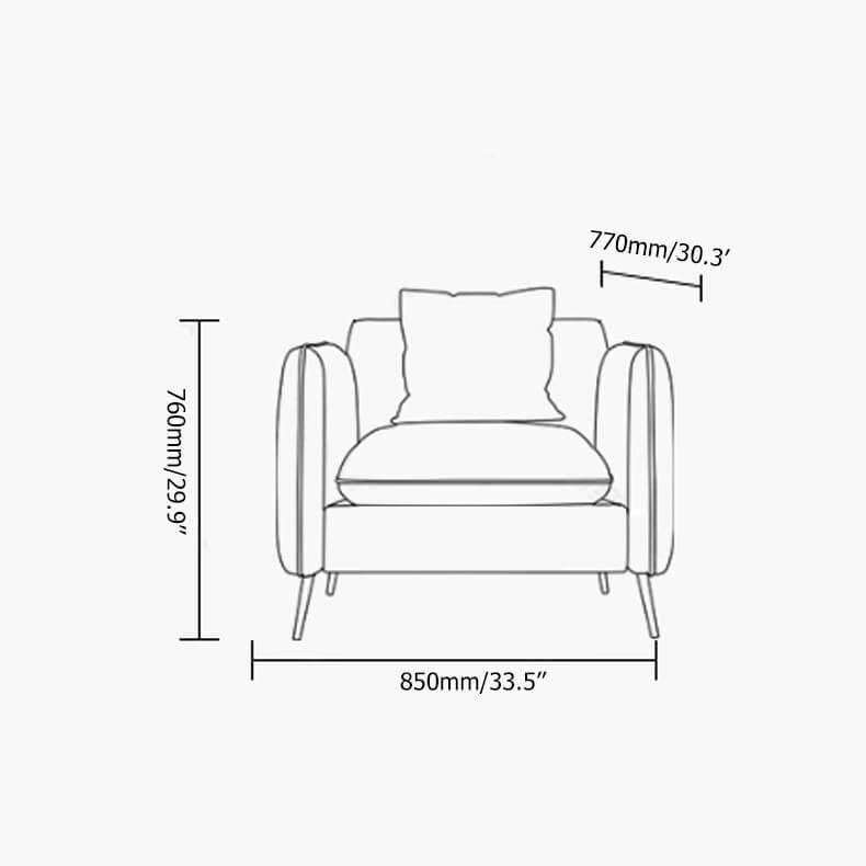 Ghế Sofa Đơn Bọc Nhung 1