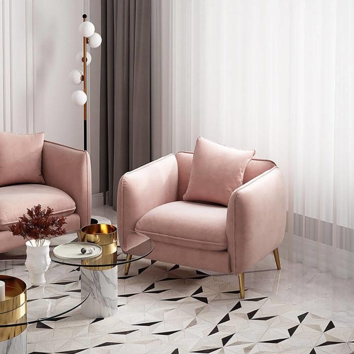 Ghế Sofa Đơn Bọc Nhung 2