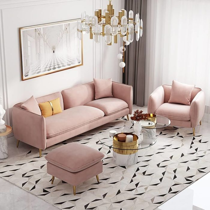 Ghế Sofa Đơn Bọc Nhung 3