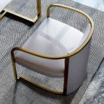 Ghế TựaInox Mạ Vàng 2