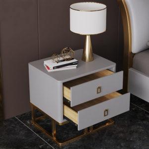 Tủ Đầu Giường Đẹp Mạ Vàng 3