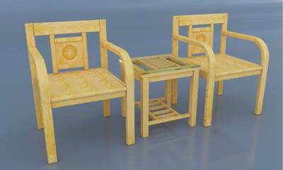 Bộ bàn 2 ghế gỗ sồi