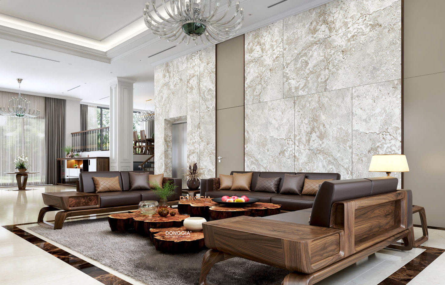 Bàn ghế gỗ hiện đại phòng khách