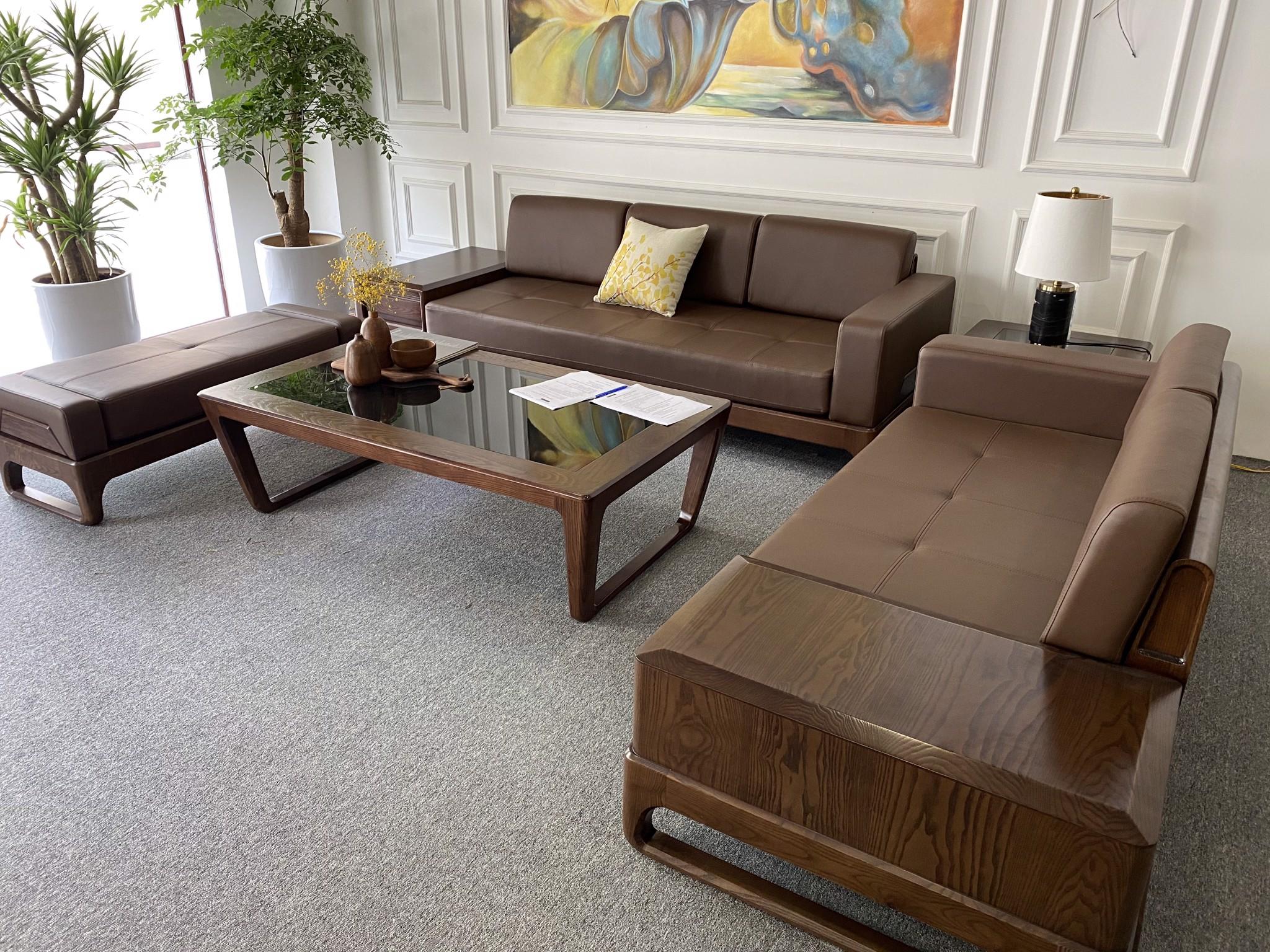 Bộ bàn ghế gỗ hiện đại màu cánh dán