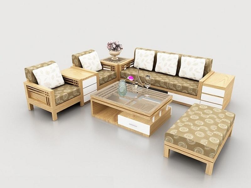 Bộ bàn ghế gỗ sồi hiện đại