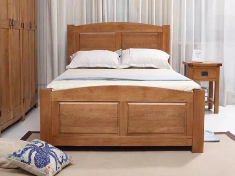 Giường Ngủ Gỗ Sồi 2