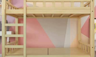 Giường Tầng Gỗ Thông 4