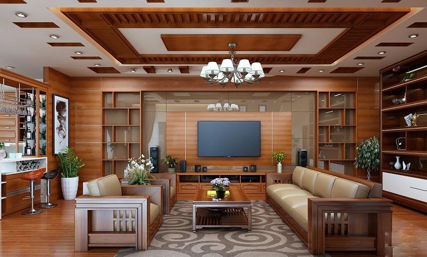Màu sơn nội thất gỗ hiện đại