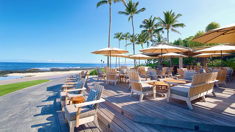 Nội thất nhà hàng gần biển