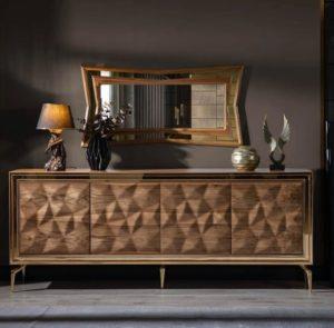 Tủ trang trí gỗ đẹp phòng khách