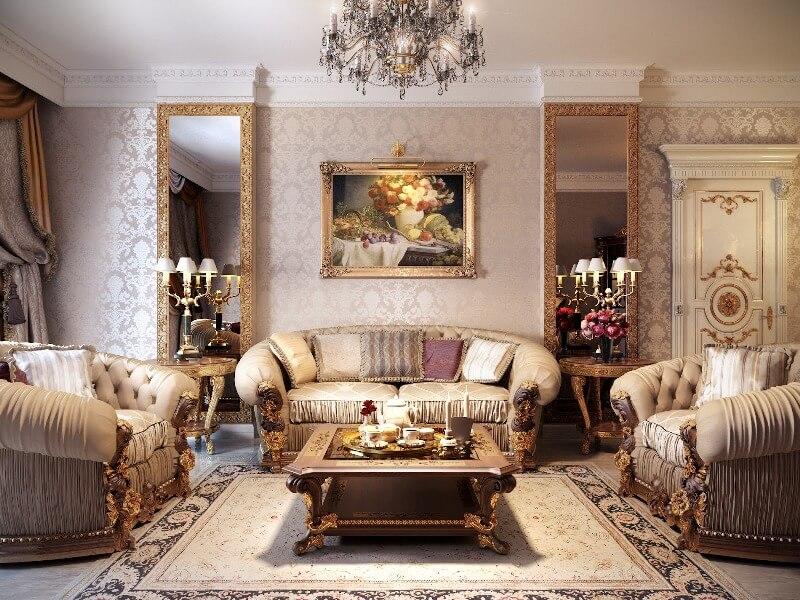 Trang trí phong khách phong cách thiết kế cổ điển