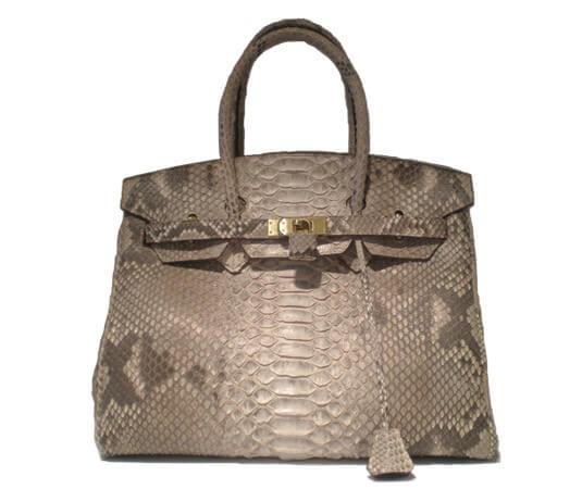 Túi xách làm từ da trăn