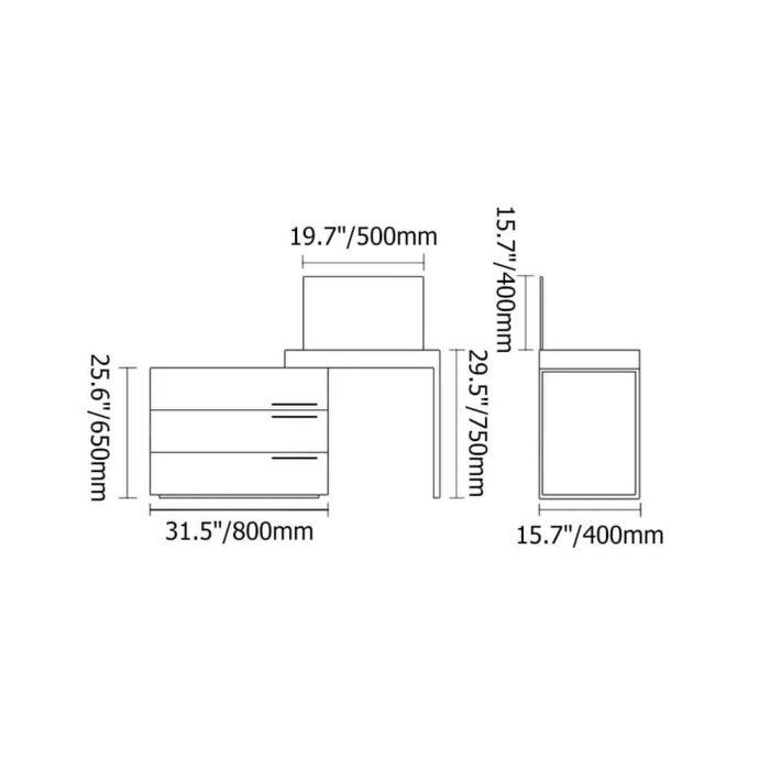 Bàn Phấn Trang Điểm PKD 04 6