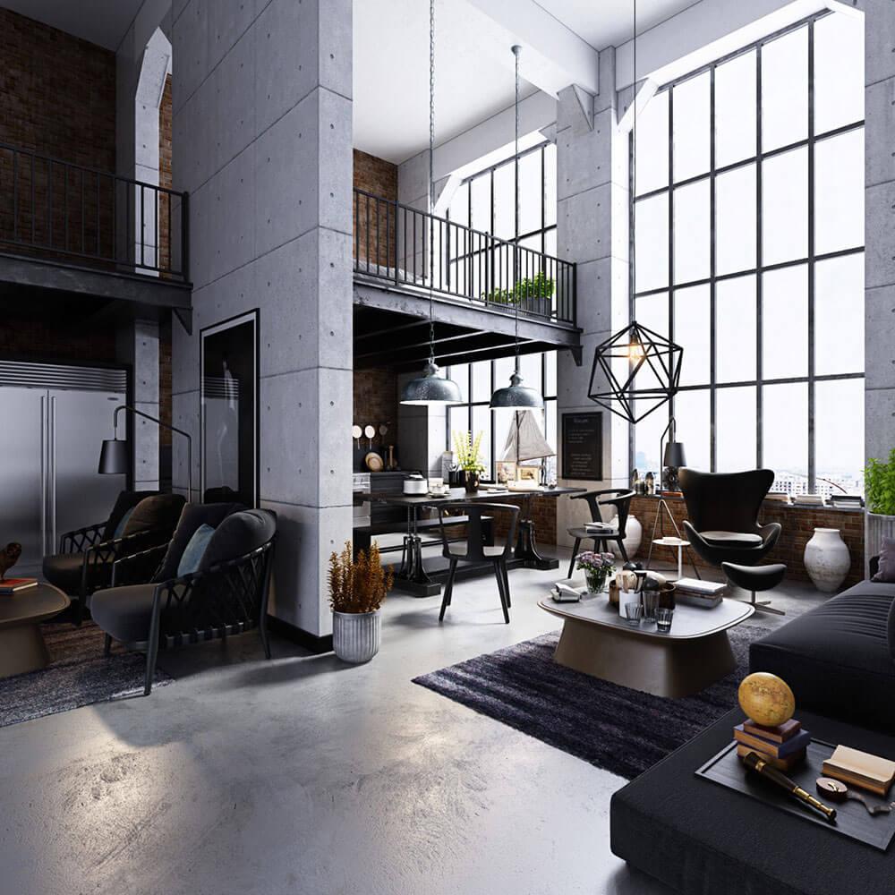 Chất liệu chủ đạo của thiết kế đương đại là gỗ, đá và kính