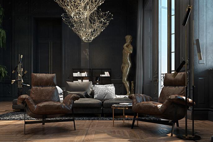 Chất liệu sử dụng trong thiết kế Luxury