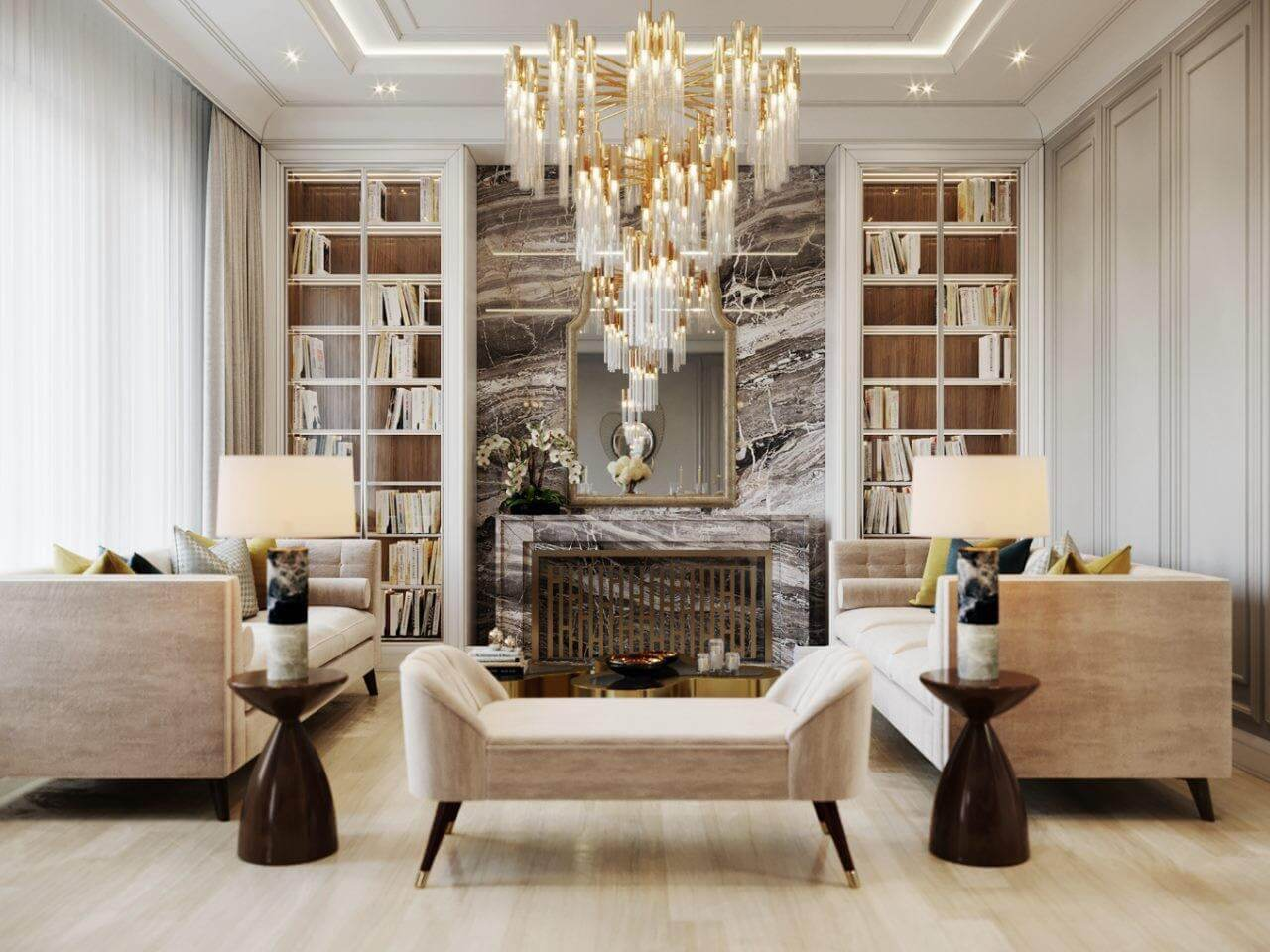 Đường chỉ phào trong thiết kế Luxury