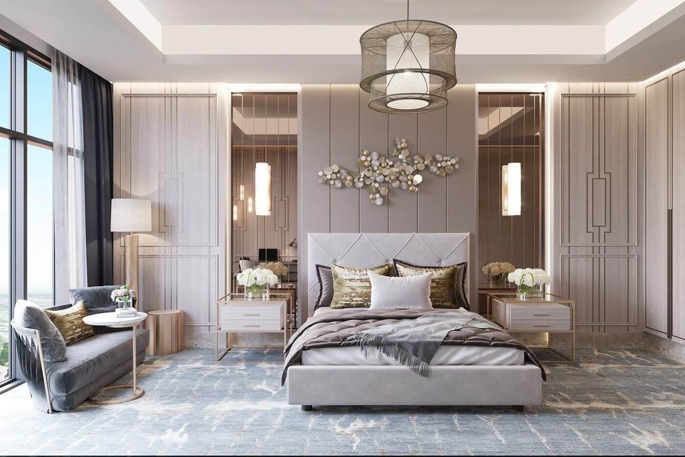 Phòng ngủ phong cách thiết kế Luxury