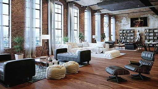 Thiết kế Vintage này phù hợp với những căn phòng có diện tích rộng
