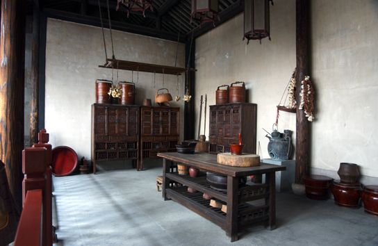 Thiết kế nhà bếp theo phong cách thiết kế Á Đông xưa