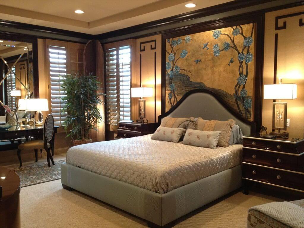 Thiết kế phòng ngủ theo phong cách thiết kế Á Đông