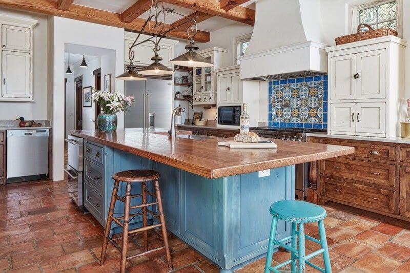 Ý tưởng thiết kế phòng bếp phong cách địa trung hải