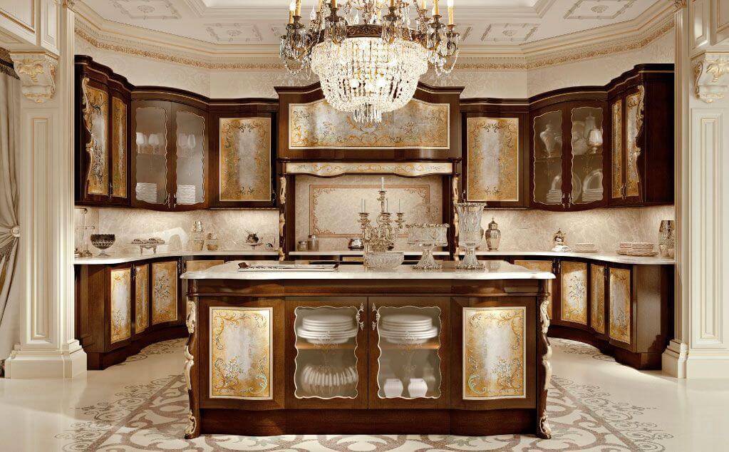 Mẫu nhà bếp phong cách cổ điển