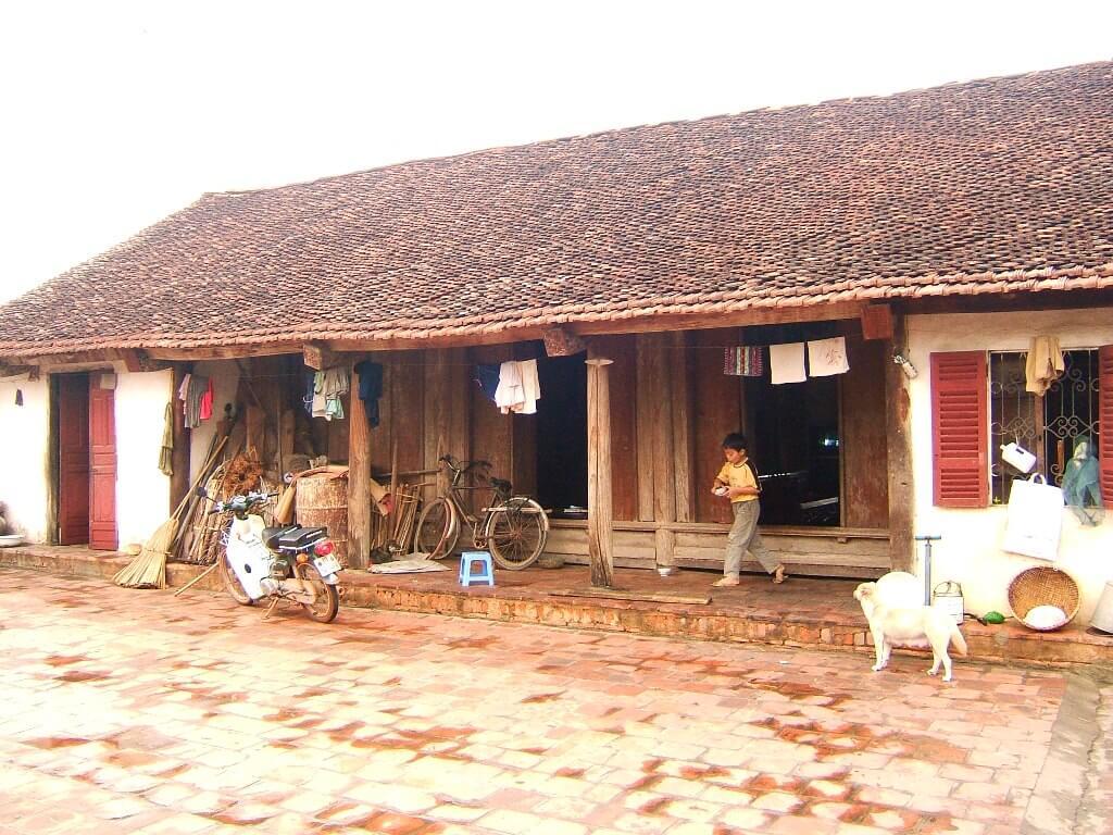 Nhà gỗ 3 gian miền bắc Việt Nam