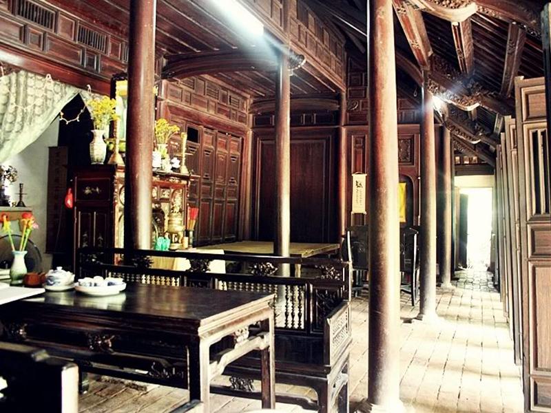 Sắp xếp nội thất nhà gỗ 3 gian xưa
