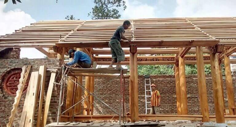 Xây dựng nhà cổ 3 gian