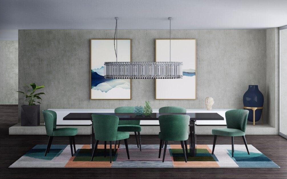 Đèn trang trí phòng ăn sang trọng
